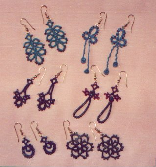 Beaded Tatted Earring Patterns